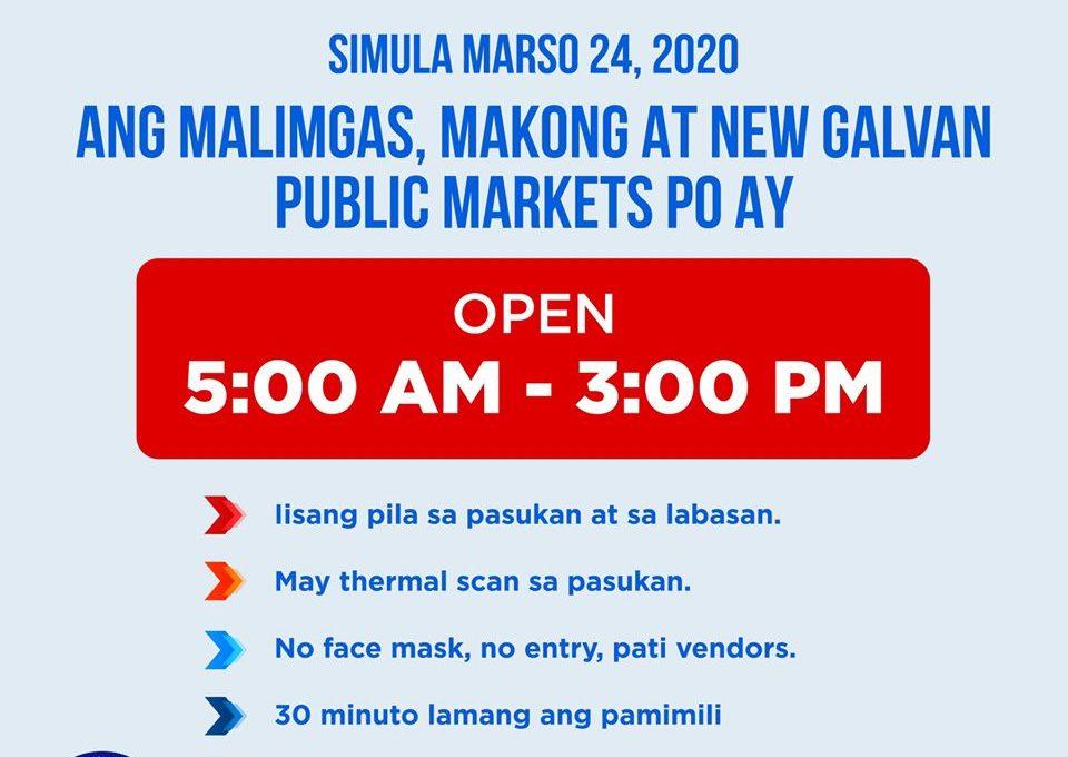 Extended ang pagbubukas ng public market